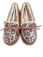 2014 women leopard new style casual shoes with paillettes