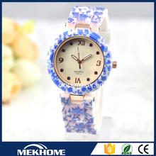 Fashion Silicone ladies bracelet wrist watch