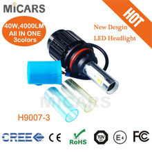 2014 new product 3 colors 9007 4000lm car LED headlights