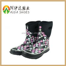 wholesale cheap print fashion rubber muck boots