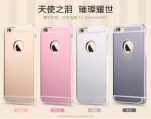 USAMS Angel Tears Series Aluminum TPU Back Cover 2 in 1 Protective Case For Iphone 6 Plus 5.5 MT-3072