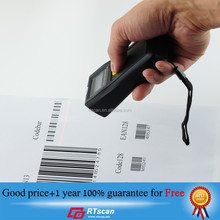 portable barcode scanner with screen and battery for simple application, very low price