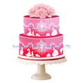 ¡Nuevo! molde de silicona de lateral del cordón de pastel de boda, torta de participar de fiesta, decoración de pasteles de boda