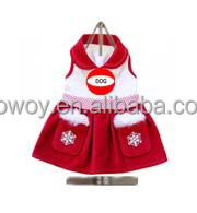 Promotional Pet Products Winter Clothes Girls Dog Snow Drop Holiday Dress Dog Pet Clothing