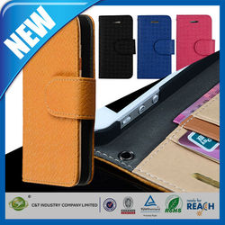 C&T Credit Card Slots Magnet Flip Wallet PU Leather Case For Iphone 5