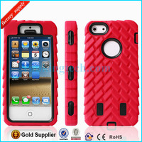 Multicolor Combo Silicon PC Phone Case for Iphone 5