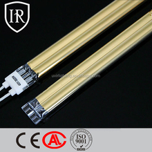 Medium Wave Twin Tube Infrared Golden Coated Heating Lamp