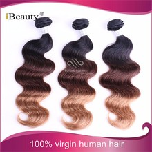 Dropshipping available kosher human hair extension remy 1b 33 27 ombre hair two tone colored brazilian hair