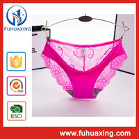 Hot Selling Pictures of Women in Lace Transparent Low Rise Waist Panty Underwear