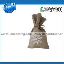 customize size burlap pouch for foods packing