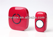 FORRINX Lucky Red Color Fashionable Ding Dong Dog Barking Bird Sound 52 Melody 300m In The Open Air Wireless Doorbells