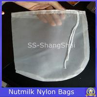 200 micron food grade drawstrings nutmilk mesh bag/nutmilk filter bag/ nutmilk nylon bag