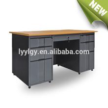 De metal popular equipo de la oficina de mesa con modelos de siete cajones