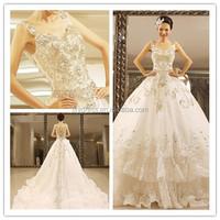 Bling Bling Latest 2015 Spark Sweetheart Bridal Luxury Online Crystal Beaded Wedding Custom Made MM-1209 Long Tail Wedding Dress