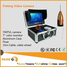 "Underwater Fishing video camera with 50M underwater fish finder camera and 7"" TFT color minitor"