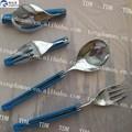 plegable de acero inoxidable tenedor cuchara y cuchillo