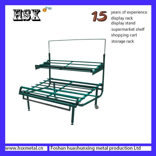 2 layers or 3 layers supermarket fruit vegetable shelf fruit shop displays HSX- 787
