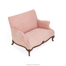 Pure Vintage Pink Hemp Loveseat armchair furniture AO6091