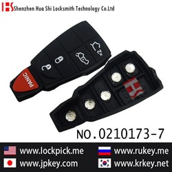 Best price high quality original car 4+1 button remote rubber for key cover 0210173-7