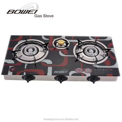 Hotsell Auto Cast Iron Three Burner Gas Cooker China