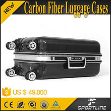 2015 Luxury 100% Real Carbon Fibre Luggage Trolley Bag for Travel 24'' with 4 Wheels
