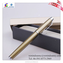 Wholesale high quality gold color metal ballpoint pen for gift or office with OEM service