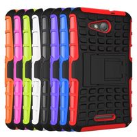 Multicolor TPU+PC Spider Stand Cell Phones Case Back Cover for Sony Xperia E4g