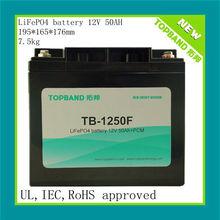 12V Rechargeable LiFePO4/LFP/LIPO Battery 50Ah