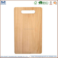 Rectangle vegetable wooden cheese cutting board,wood cutting board with handle