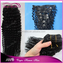 Best 6a quality 1b# malaysian remy human hair deep wave clip in human hair weft