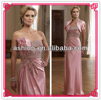 ME-155 Popular design jacket and coral mother of the bride dress 2013