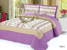 3pcs new style home use 100% cotton patchwork quilt, 100% popular comforter set