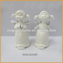 Best selling wholesale customized christmas ceramic figures angel