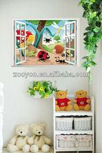 De dibujos animados zy1401 etiqueta de la ventana/casa y decoración para la habitación de los niños