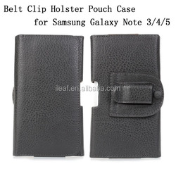 Hotsale Belt Clip Holster PU Leather Pouch Case Cover for Samsung Galaxy Note 3/4/5