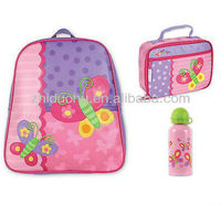 Zhiduofu Kids Toddler School Preschool Backpack Bag Lunch Bottle Set