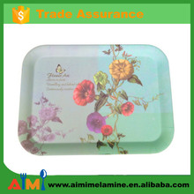 100% Melamine hotel and restraunt anti-slip serving tray set