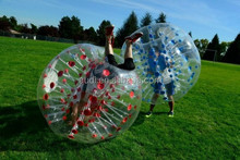 wholesale human bubble football with clolorful dots