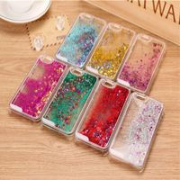 Glitter Stars Dynamic Liquid Quicksand Hard Case Cover For iPhone 4 4s Transparent Clear Phone Case