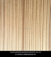 New item zebrano reconstituted wood veneer for interior doors
