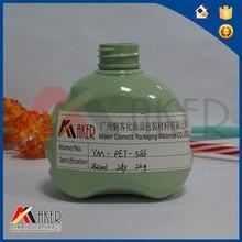 250ml green heart shape sealing type plastic bottle