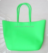 Silicone tote bag, fashional women beach bag