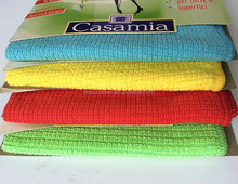 weft knitting microfiber cleaning cloth small small grid