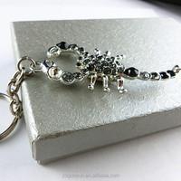 Black Crystal Keychain By Scorpion Shape