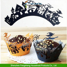 25pcs Halloween Witch Cupcake Muffin Wraps Wrappers Cases Cake Decorating
