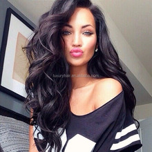 Stock Top Fashion 18 inch Body Wave 100% Unprocessed Human Hair Brazilian Human Hair Silicone Wig