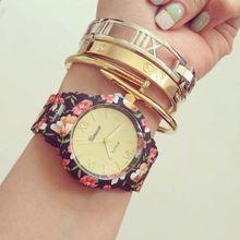 flower print watch mens wristwatch mechanical business men watch SY-35082