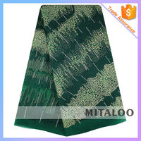 Mitaloo Embroidery Tulle Lace African French Lace with Beads MFL0053