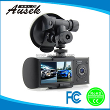2.7-inch HD detection car camera dual lens with gps and g-sensor