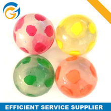Clear Colorful Dot Rubber Bouncing Ball